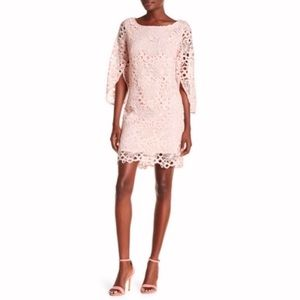 NANETTE LEPORE Lace Bell Sleeve pink Shift Dress